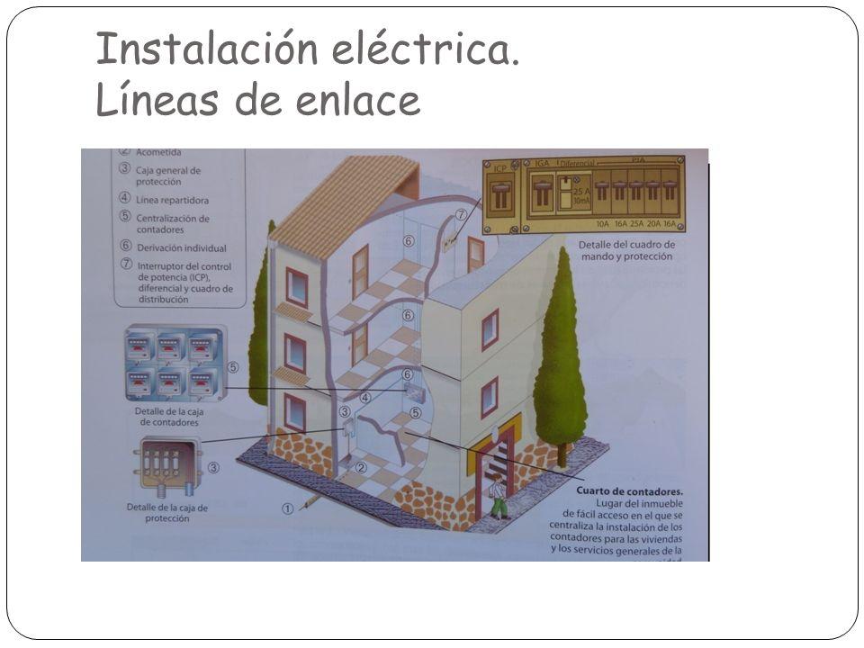 Instalación eléctrica. Líneas de enlace
