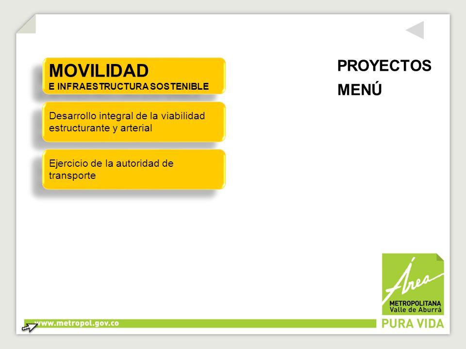 MOVILIDAD E INFRAESTRUCTURA SOSTENIBLE MOVILIDAD E INFRAESTRUCTURA SOSTENIBLE Desarrollo integral de la viabilidad estructurante y arterial Desarrollo
