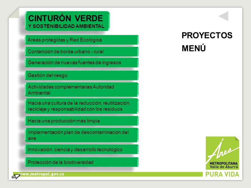 CINTURÓN VERDE Y SOSTENIBILIDAD AMBIENTAL CINTURÓN VERDE Y SOSTENIBILIDAD AMBIENTAL Áreas protegidas y Red Ecológica Contención de borde urbano - rura