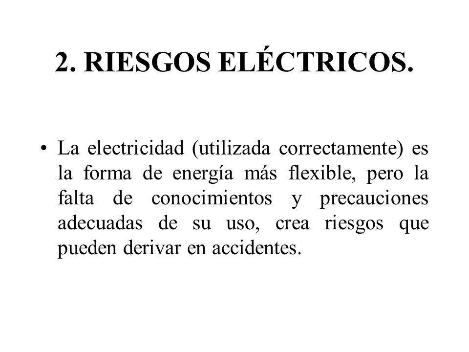 La electricidad (utilizada correctamente) es la forma de energía más flexible, pero la falta de conocimientos y precauciones adecuadas de su uso, crea
