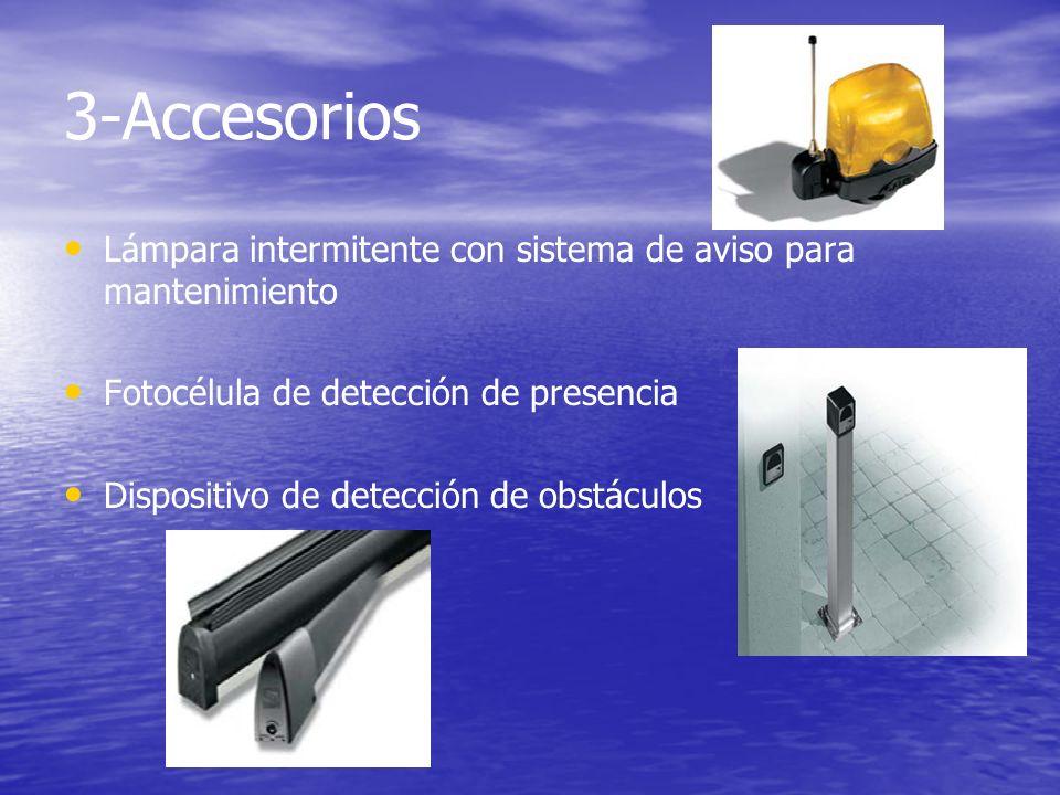 3-Accesorios Lámpara intermitente con sistema de aviso para mantenimiento Fotocélula de detección de presencia Dispositivo de detección de obstáculos