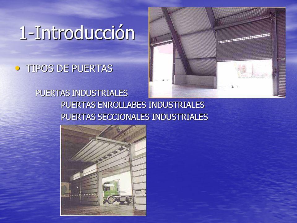 1-Introducción TIPOS DE PUERTAS TIPOS DE PUERTAS PUERTAS INDUSTRIALES PUERTAS INDUSTRIALES PUERTAS ENROLLABES INDUSTRIALES PUERTAS ENROLLABES INDUSTRI