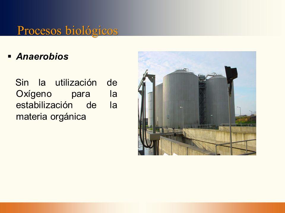 Procesos biológicos Anaerobios Sin la utilización de Oxígeno para la estabilización de la materia orgánica