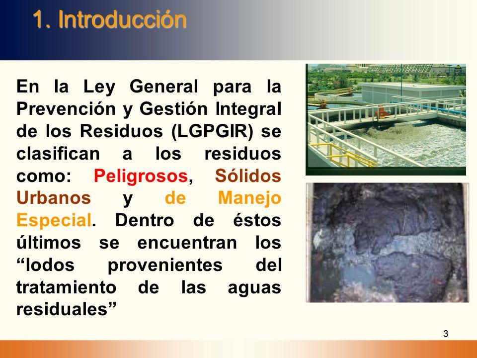 LGPGIR, ARTÍCULO 19, INCISO V LODOS PROVENIENTES DEL TRATAMIENTO DE AGUAS RESIDUALES: Son residuos de manejo especial, salvo cuando se trate de residuos considerados como peligrosos en esta Ley y en las normas oficiales mexicanas correspondientes.