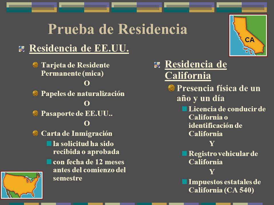 Prueba de Residencia Residencia de EE.UU.