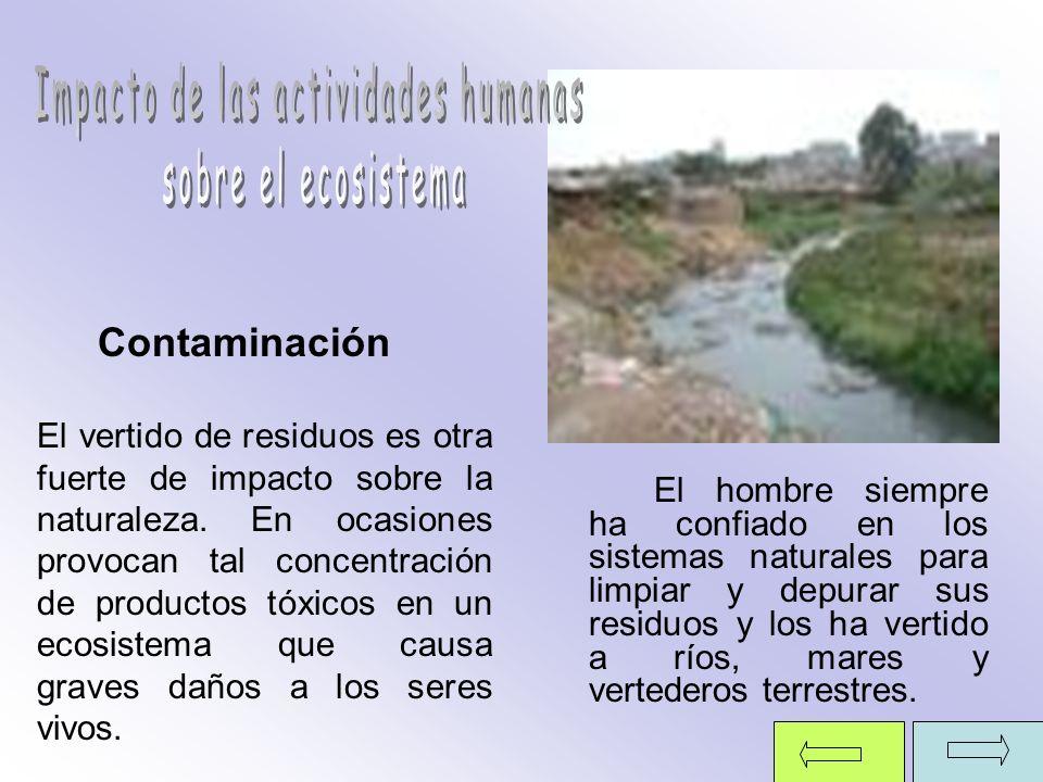 ` El hombre siempre ha confiado en los sistemas naturales para limpiar y depurar sus residuos y los ha vertido a ríos, mares y vertederos terrestres.