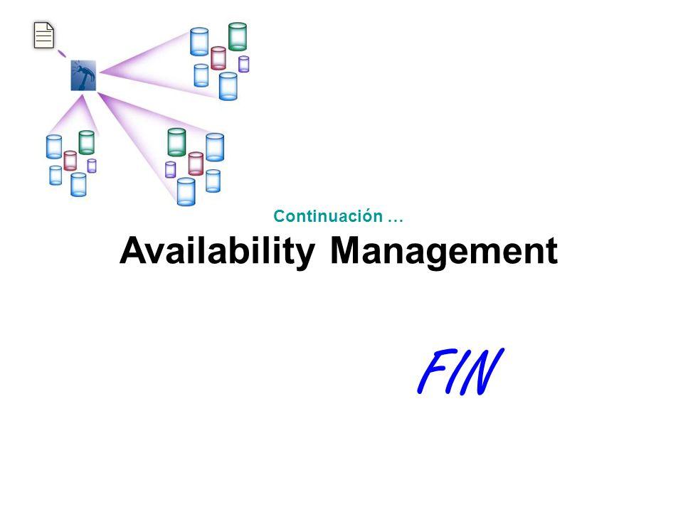 FIN Continuación … Availability Management