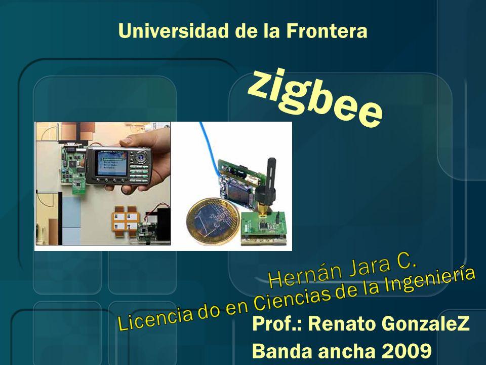 zigbee Universidad de la Frontera Prof.: Renato GonzaleZ Banda ancha 2009