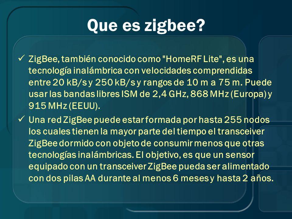 Que es zigbee? ZigBee, también conocido como