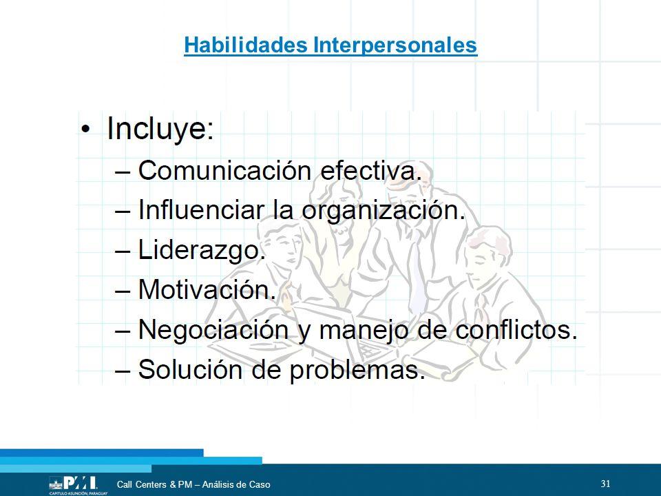31 Call Centers & PM – Análisis de Caso Habilidades Interpersonales