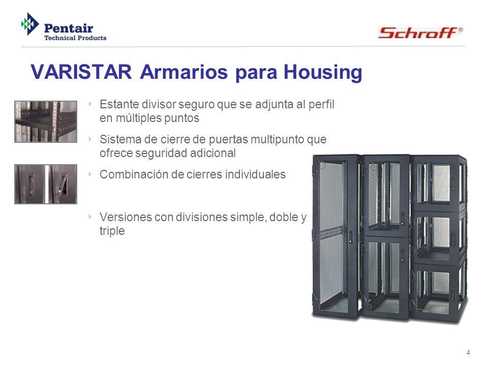 4 VARISTAR Armarios para Housing Estante divisor seguro que se adjunta al perfil en múltiples puntos Sistema de cierre de puertas multipunto que ofrec
