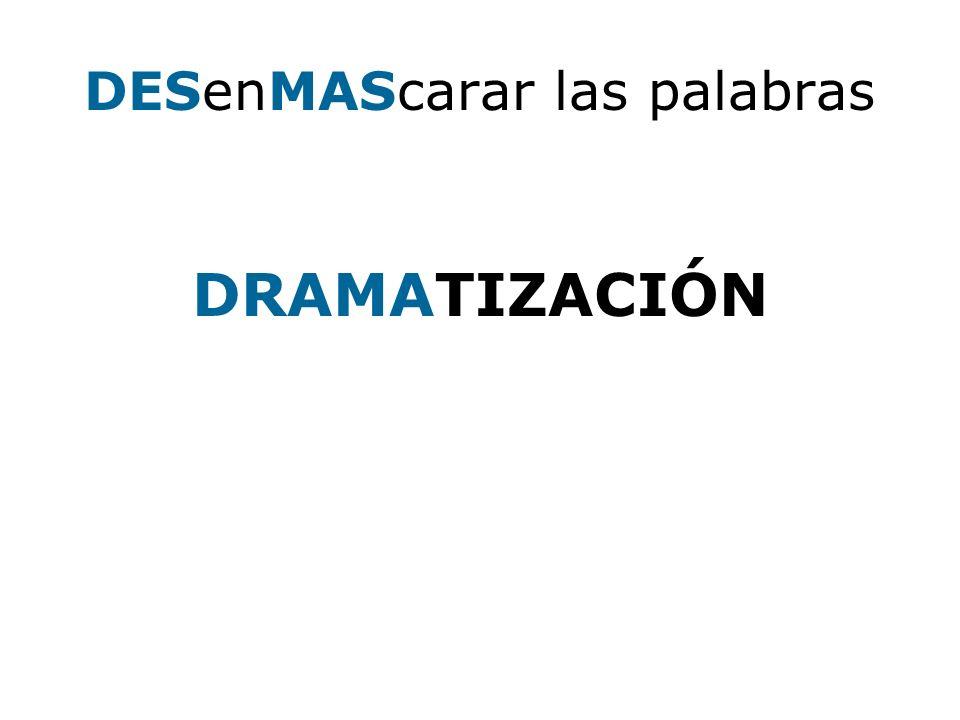 DRAMA MATIZA MATIZ MATIZACIÓN RAMA RAMATIZA AMA AMATIZA ATIZA TIZA RAMA CIO -CIÓN ION DR.