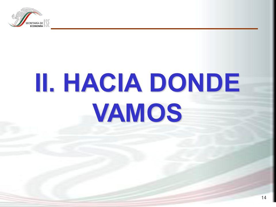 14 II. HACIA DONDE VAMOS