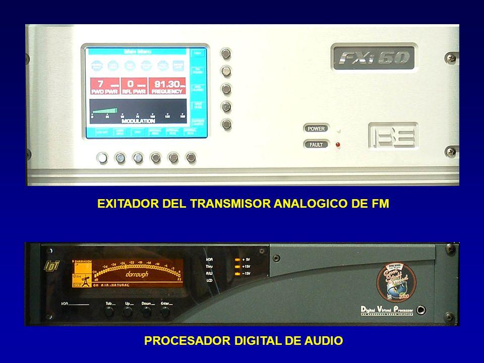 EXITADOR DEL TRANSMISOR ANALOGICO DE FM PROCESADOR DIGITAL DE AUDIO