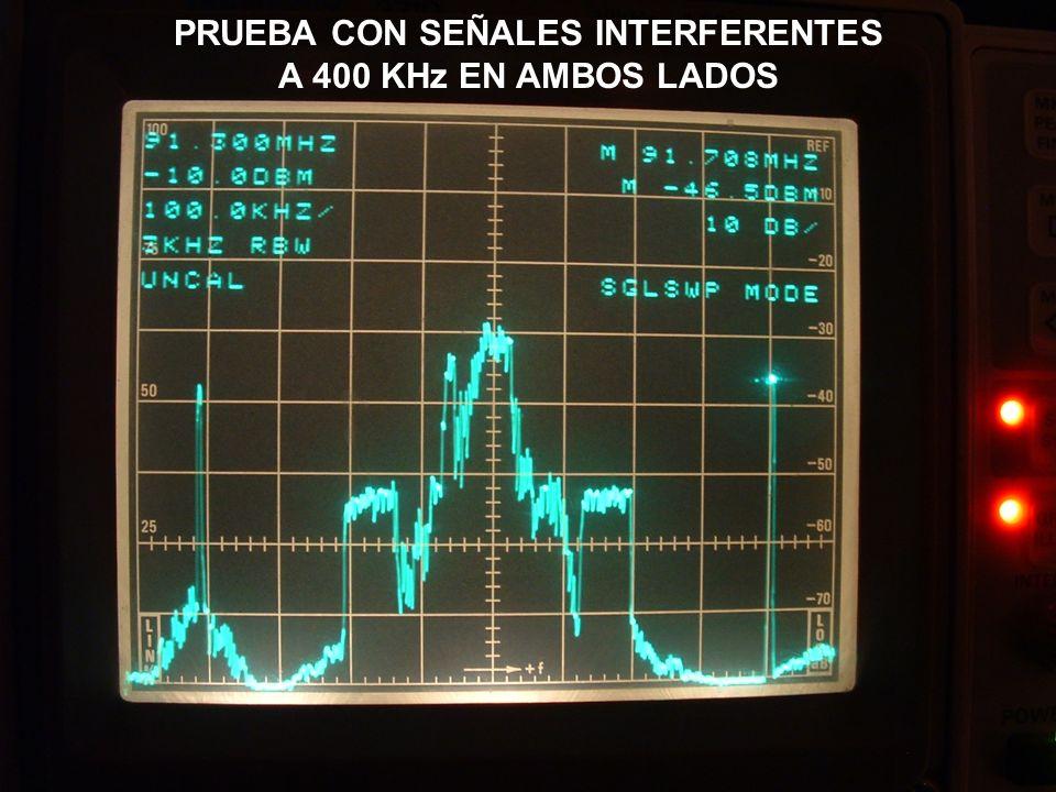 PRUEBA CON SEÑALES INTERFERENTES A 400 KHz EN AMBOS LADOS