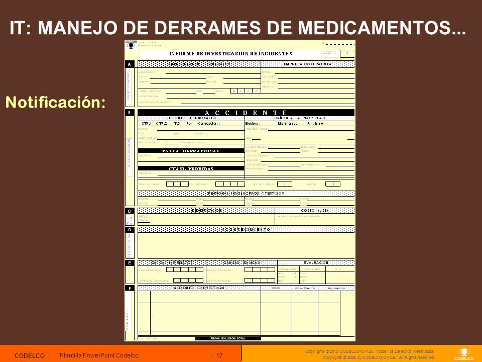 17 CODELCO Copyrights © 2010 CODELCO-CHILE. Todos los Derechos Reservados. Copyrights © 2009 by CODELCO-CHILE. All Rights Reserved. Plantilla PowerPoi