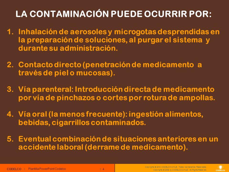 4 CODELCO Copyrights © 2010 CODELCO-CHILE. Todos los Derechos Reservados. Copyrights © 2009 by CODELCO-CHILE. All Rights Reserved. LA CONTAMINACIÓN PU