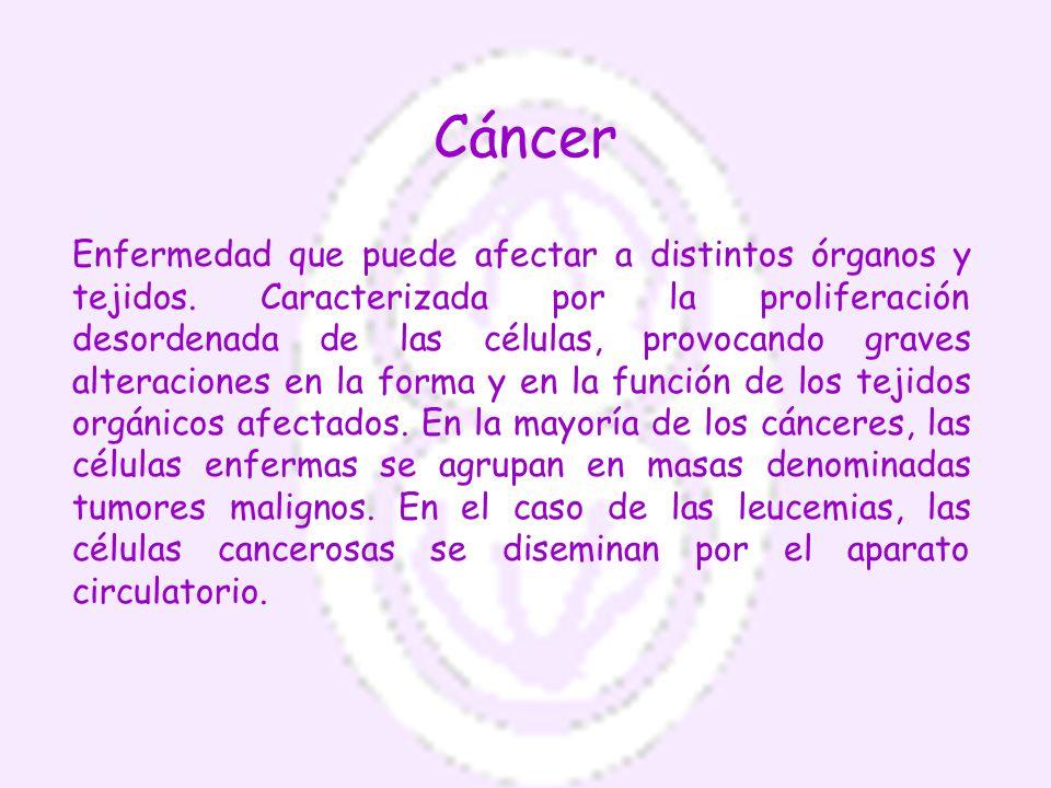 Factores que pueden provocar un cáncer Físicos: con radiación en dosis suficientemente grande, se destruye la doble hélice del ADN y se mueren las células.