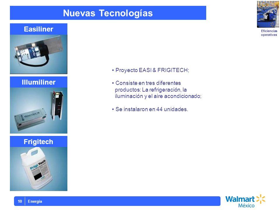 Energía10 Frigitech Illumiliner Easiliner Eficiencias operativas Nuevas Tecnologías Proyecto EASI & FRIGITECH; Consiste en tres diferentes productos: