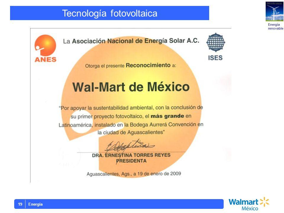 Energía19 Tecnología fotovoltaica Energía renovable