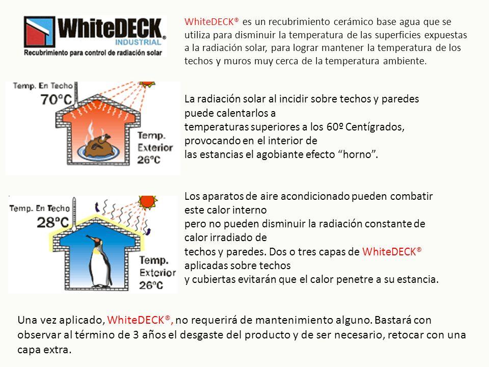 La radiación solar al incidir sobre techos y paredes puede calentarlos a temperaturas superiores a los 60º Centígrados, provocando en el interior de las estancias el agobiante efecto horno.