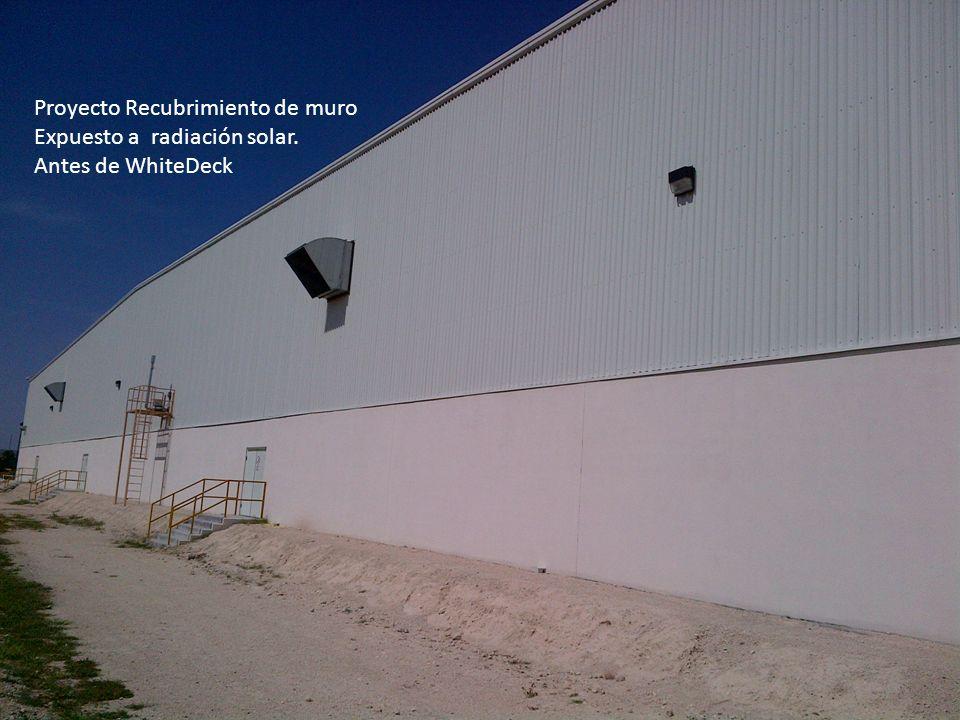 Proyecto Recubrimiento de muro Expuesto a radiación solar. Antes de WhiteDeck