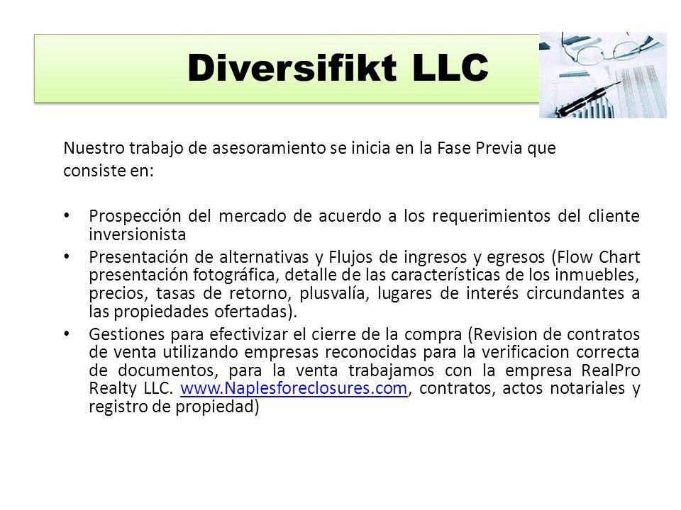 Diversifkt garantiza a nuestros clientes todos los servicios de Mantenimiento y Administración de su Inversión mediante los siguientes planes: ADMINISTRACION Y MANTENIMIENTO DE LA INVERSION