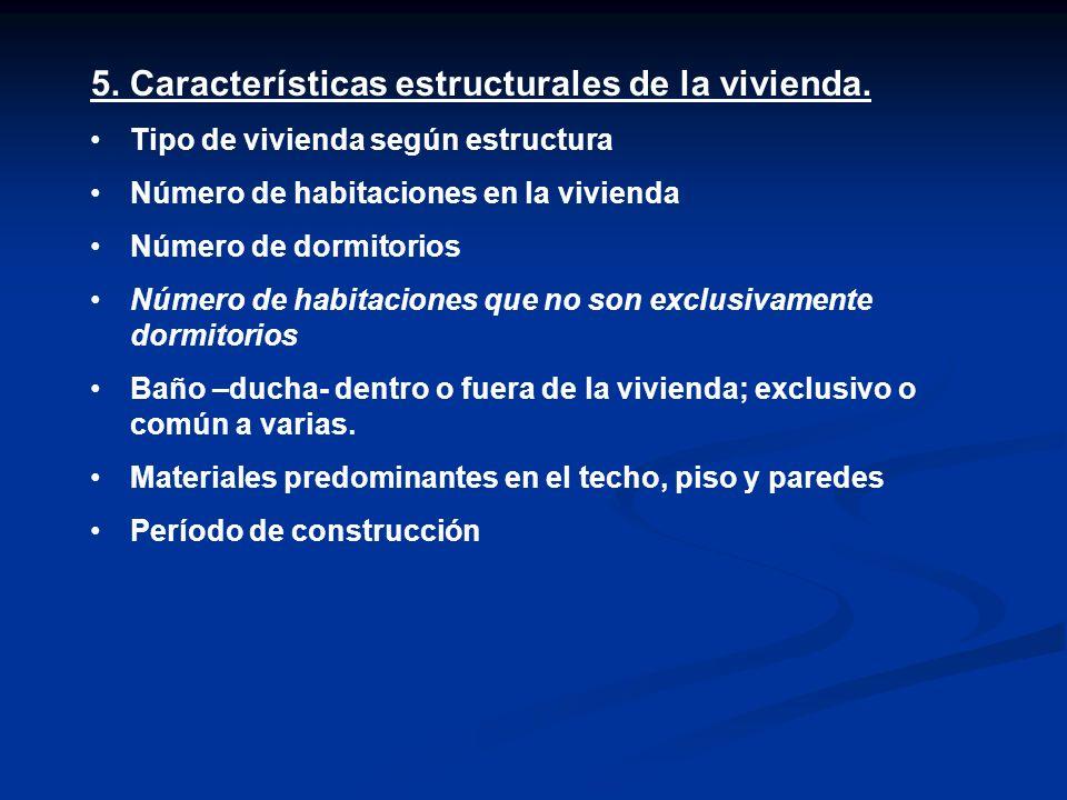 5.Características estructurales de la vivienda.
