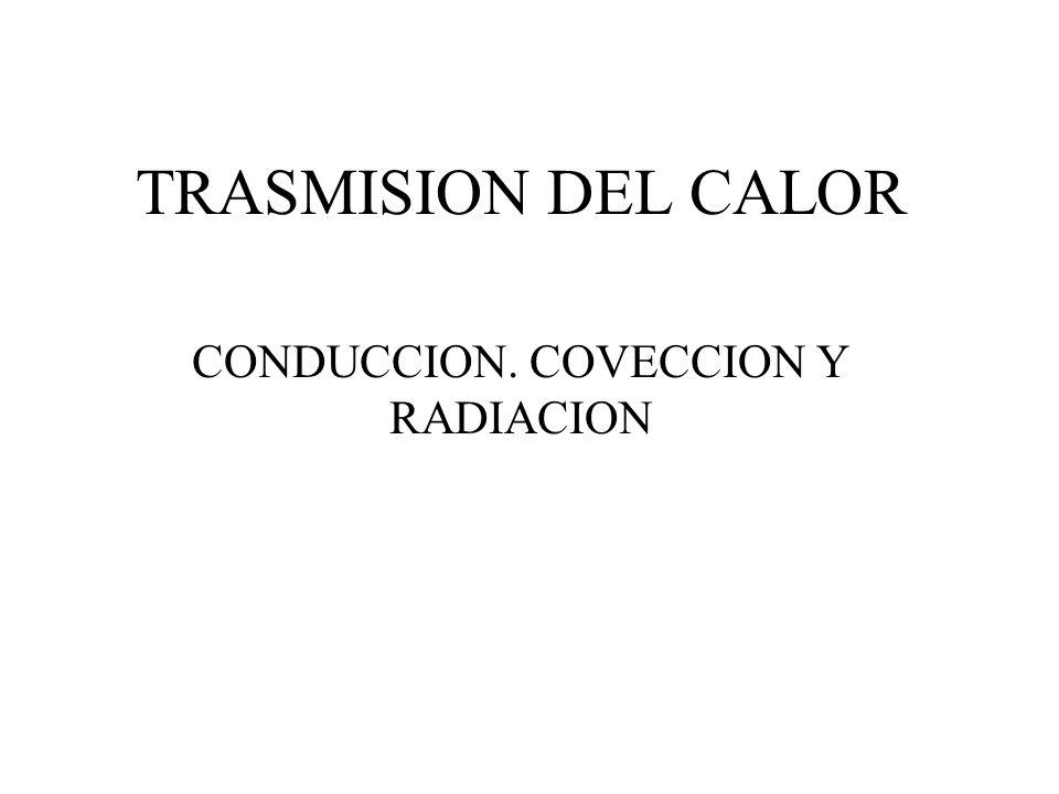 TRASMISION DEL CALOR CONDUCCION. COVECCION Y RADIACION