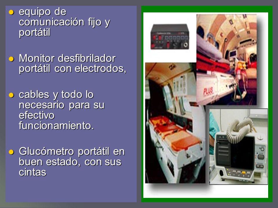 equipo de comunicación fijo y portátil equipo de comunicación fijo y portátil Monitor desfibrilador portátil con electrodos, Monitor desfibrilador portátil con electrodos, cables y todo lo necesario para su efectivo funcionamiento.