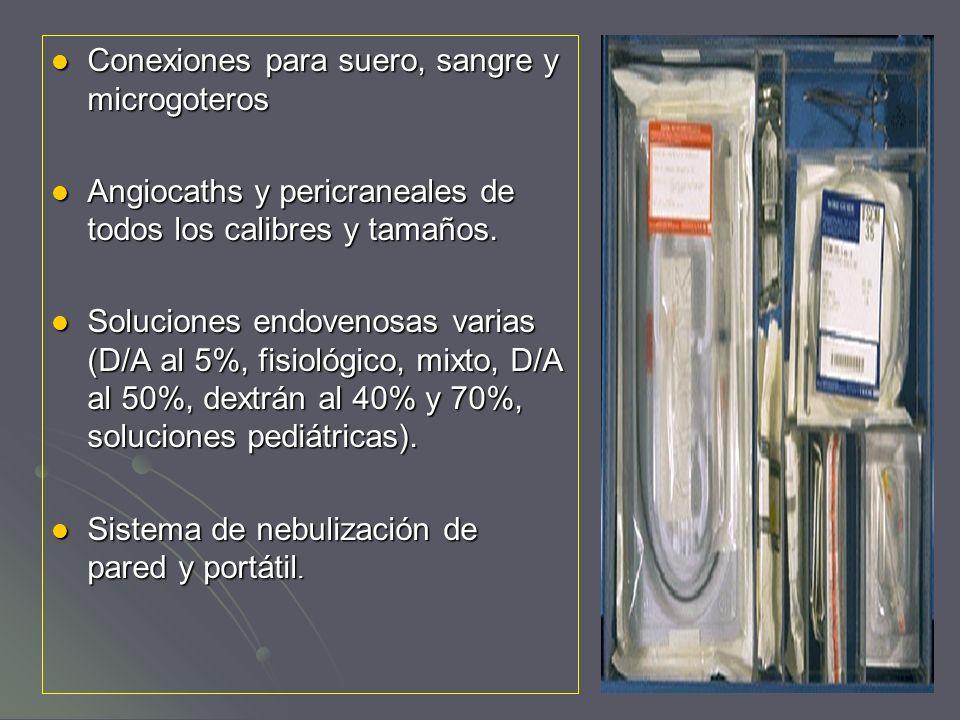 Conexiones para suero, sangre y microgoteros Conexiones para suero, sangre y microgoteros Angiocaths y pericraneales de todos los calibres y tamaños.