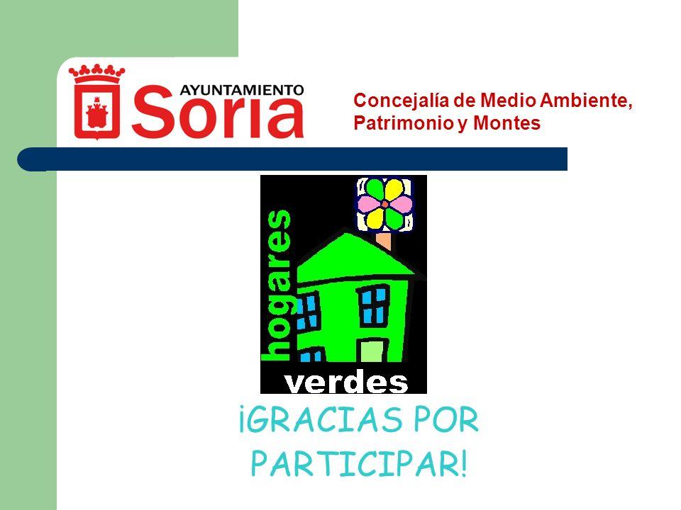 Concejalía de Medio Ambiente, Patrimonio y Montes ¡GRACIAS POR PARTICIPAR!