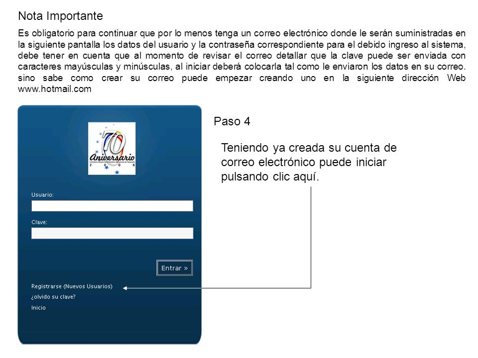 Paso 13 Paso 13: Lea cuidadosamente la parte de los datos según la opción que este de acuerdo con usted.