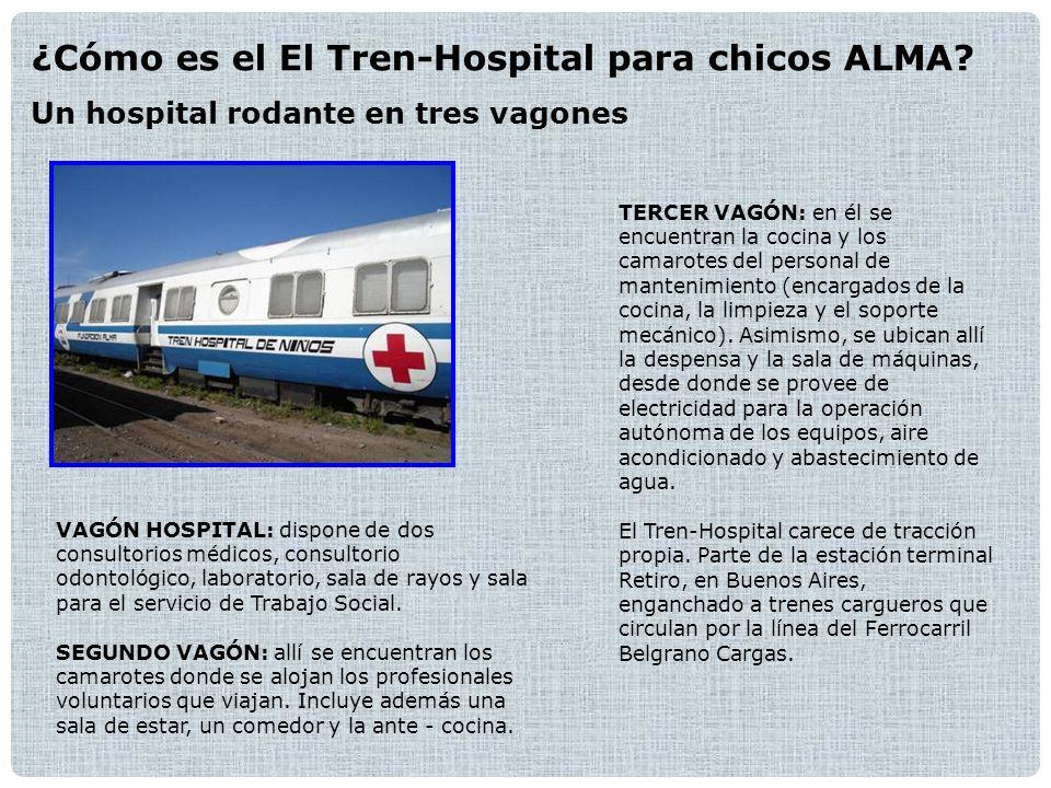 ¿Cómo es el El Tren-Hospital para chicos ALMA.