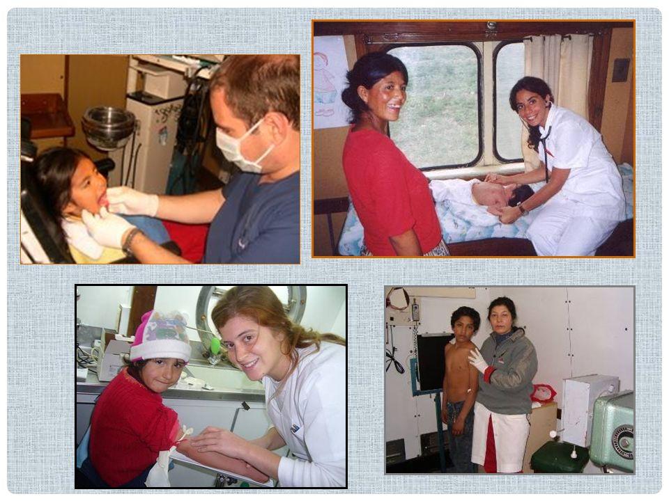Educación Sanitaria Durante la estadía del Tren en cada localidad, el Equipo de Profesionales Voluntarios realiza, paralelamente, una importante tarea de educación sanitaria.