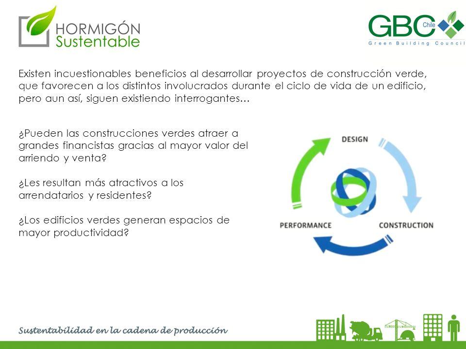 Existen incuestionables beneficios al desarrollar proyectos de construcción verde, que favorecen a los distintos involucrados durante el ciclo de vida