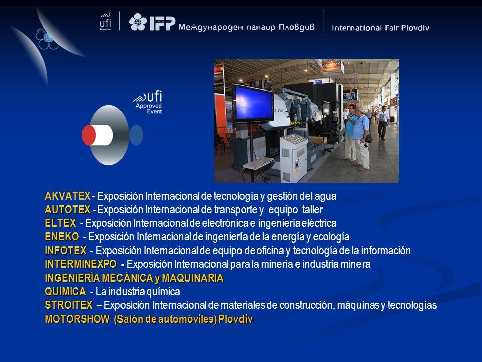 AKVATEX - Exposición Internacional de tecnología y gestión del agua AUTOTEX AUTOTEX - Exposición Internacional de transporte y equipo taller ELTEX ELT