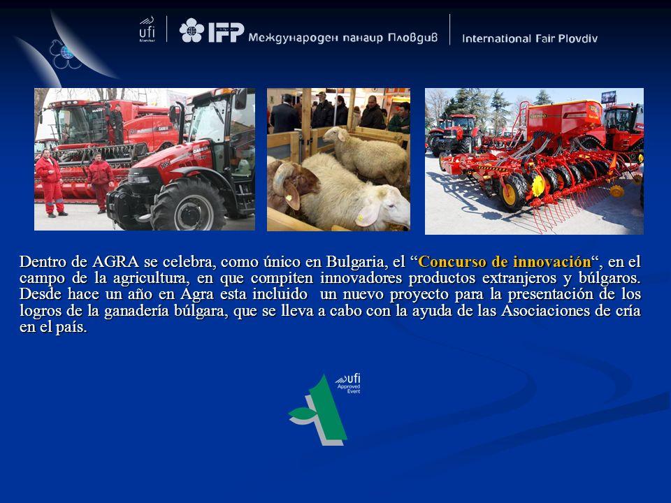 Dentro de AGRA se celebra, como único en Bulgaria, el Concurso de innovación, en el campo de la agricultura, en que compiten innovadores productos ext