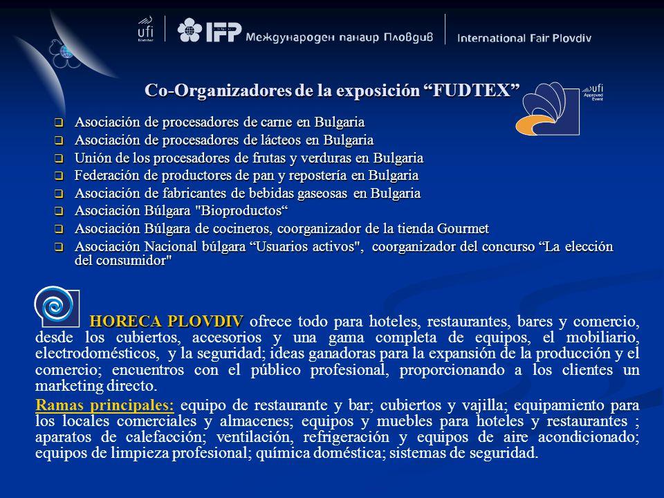 Co-Organizadores de la exposición FUDTEX Asociación de procesadores de carne en Bulgaria Asociación de procesadores de carne en Bulgaria Asociación de