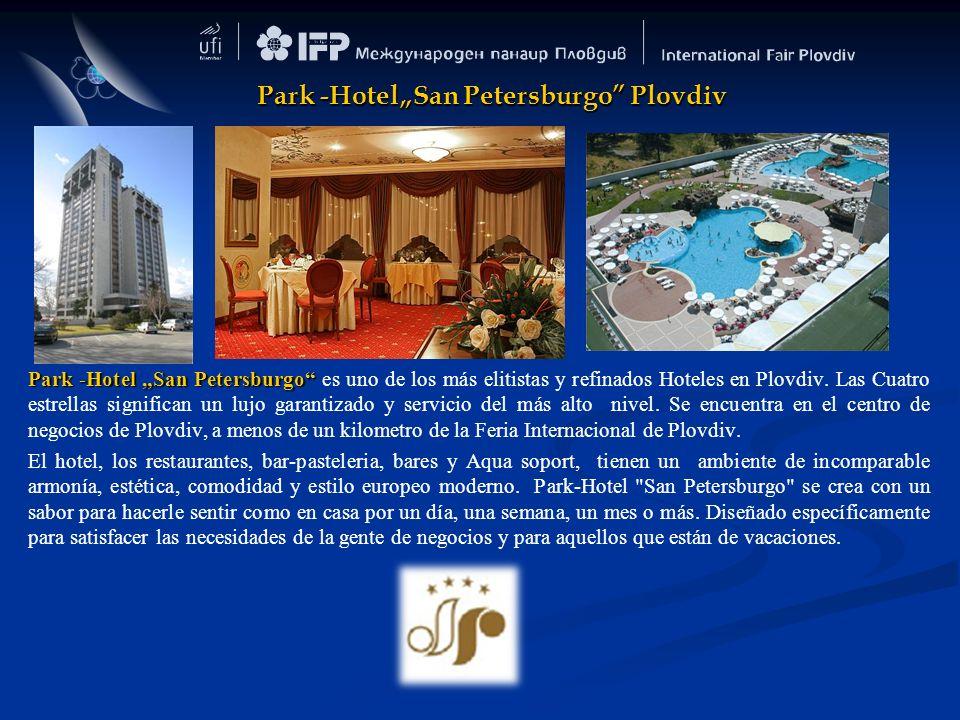 Park -Hotel San Petersburgo Park -Hotel San Petersburgo es uno de los más elitistas y refinados Hoteles en Plovdiv. Las Cuatro estrellas significan un