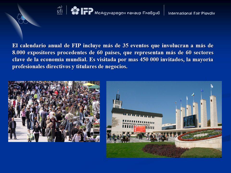 El calendario anual de FIP incluye más de 35 eventos que involucran a más de 8.000 expositores procedentes de 60 países, que representan más de 60 sec