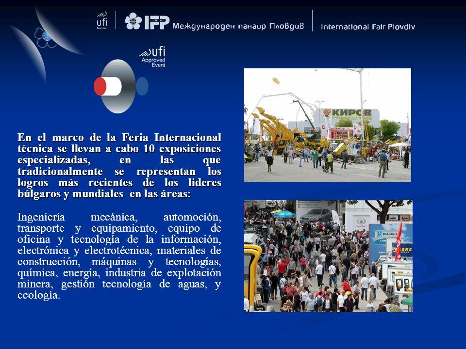 En el marco de la Feria Internacional técnica se llevan a cabo 10 exposiciones especializadas, en las que tradicionalmente se representan los logros m