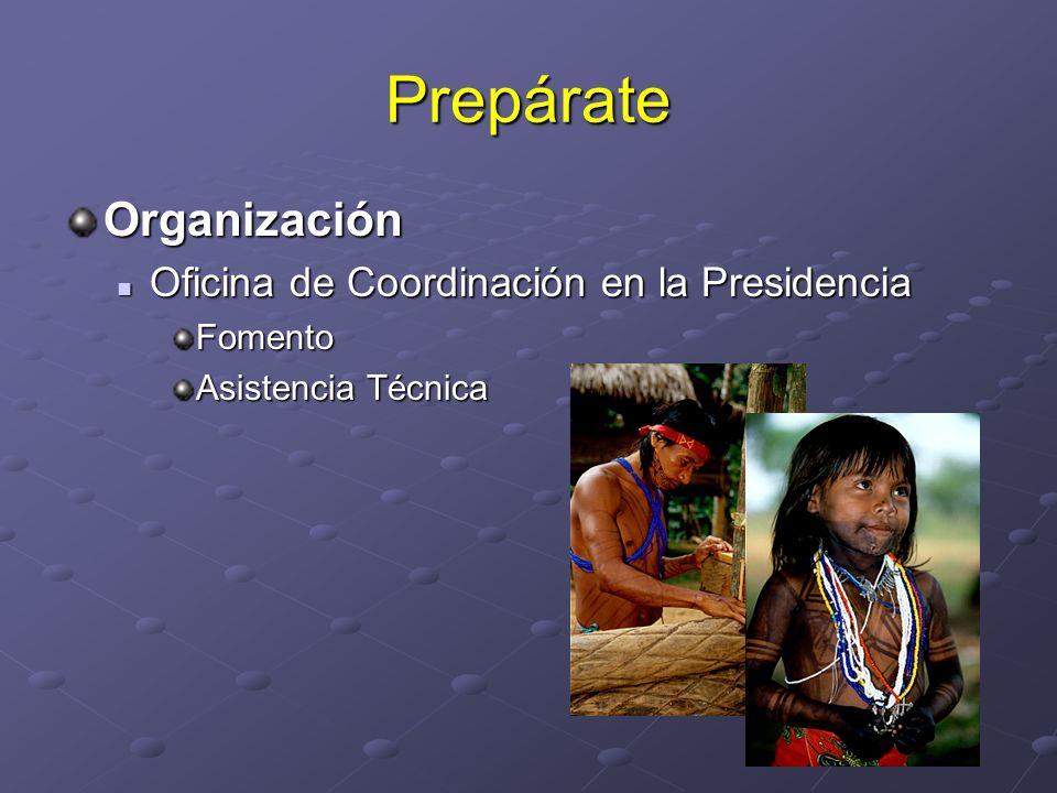 Prepárate Organización Oficina de Coordinación en la Presidencia Oficina de Coordinación en la PresidenciaFomento Asistencia Técnica