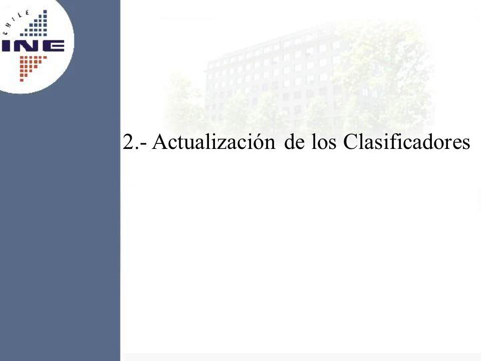 2.- Actualización de los Clasificadores