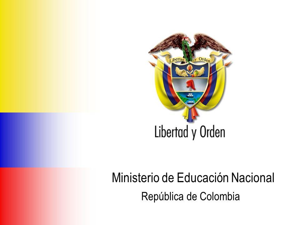 Ministerio de Educación Nacional República de Colombia VIGENCIA ASIGNADOCOMPROMETIDO Sept/08 COMPROMETIDO Dict/08 Excedente 700 millones 500 millones100%0 INDICADORMETA 2008SEP 2008 PROYECCION DIC 2008 Programas de Licenciatura en idiomas de Instituciones de Educación Superior con planes de mejoramiento en ejecución 8910