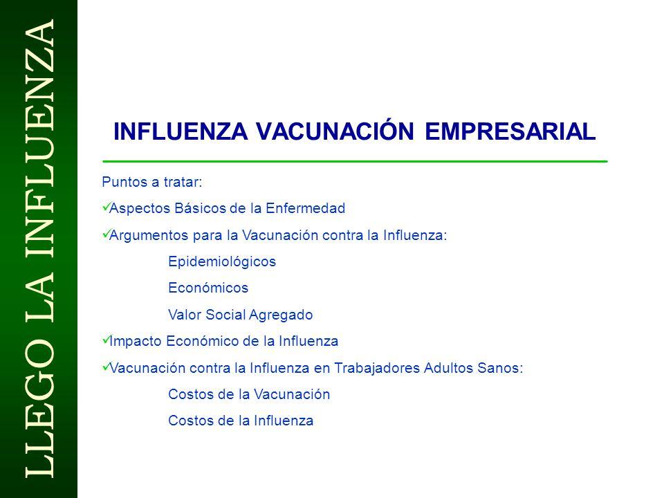 INFLUENZA Vacunación Dr. Guillermo Stern Instituto Pediátrico La Florida www.guillermostern.com LLEGO LA INFLUENZA