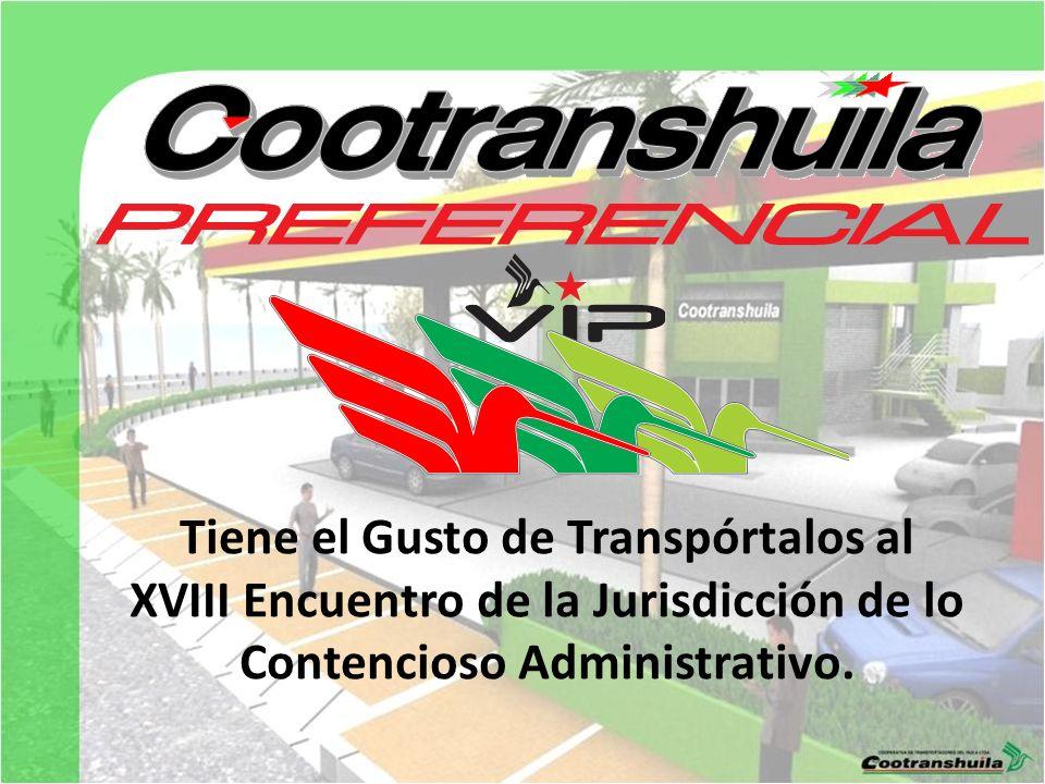Tiene el Gusto de Transpórtalos al XVIII Encuentro de la Jurisdicción de lo Contencioso Administrativo.