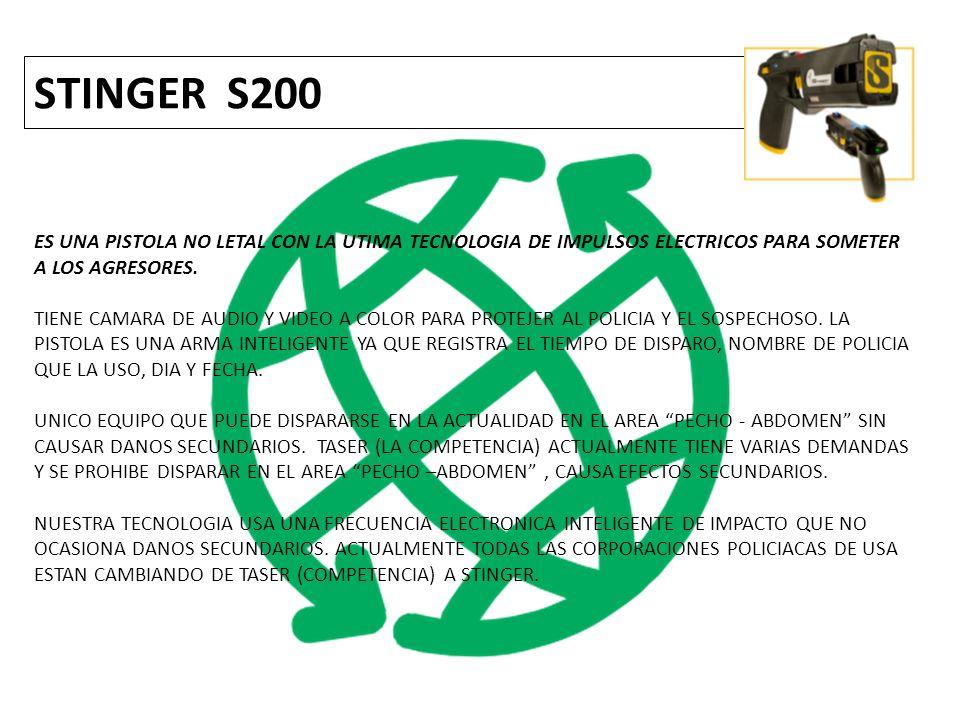 STINGER S200 ES UNA PISTOLA NO LETAL CON LA UTIMA TECNOLOGIA DE IMPULSOS ELECTRICOS PARA SOMETER A LOS AGRESORES.