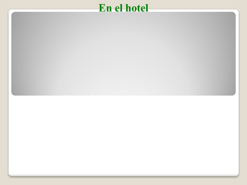 En el hotel To transfer images to your own PowerPoint ® follow the following steps: Open the Resource file within the chapter file from the CD- ROM disc.