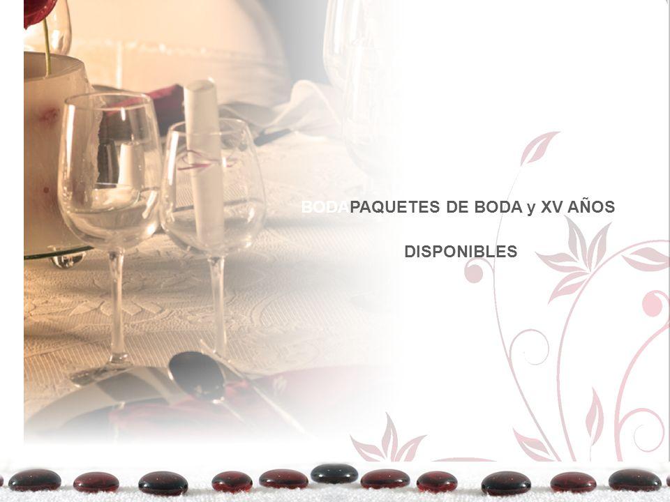 BODAPAQUETES DE BODA y XV AÑOS DISPONIBLES